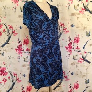 Banana Republic Blue Cowl Neck Dress Size S